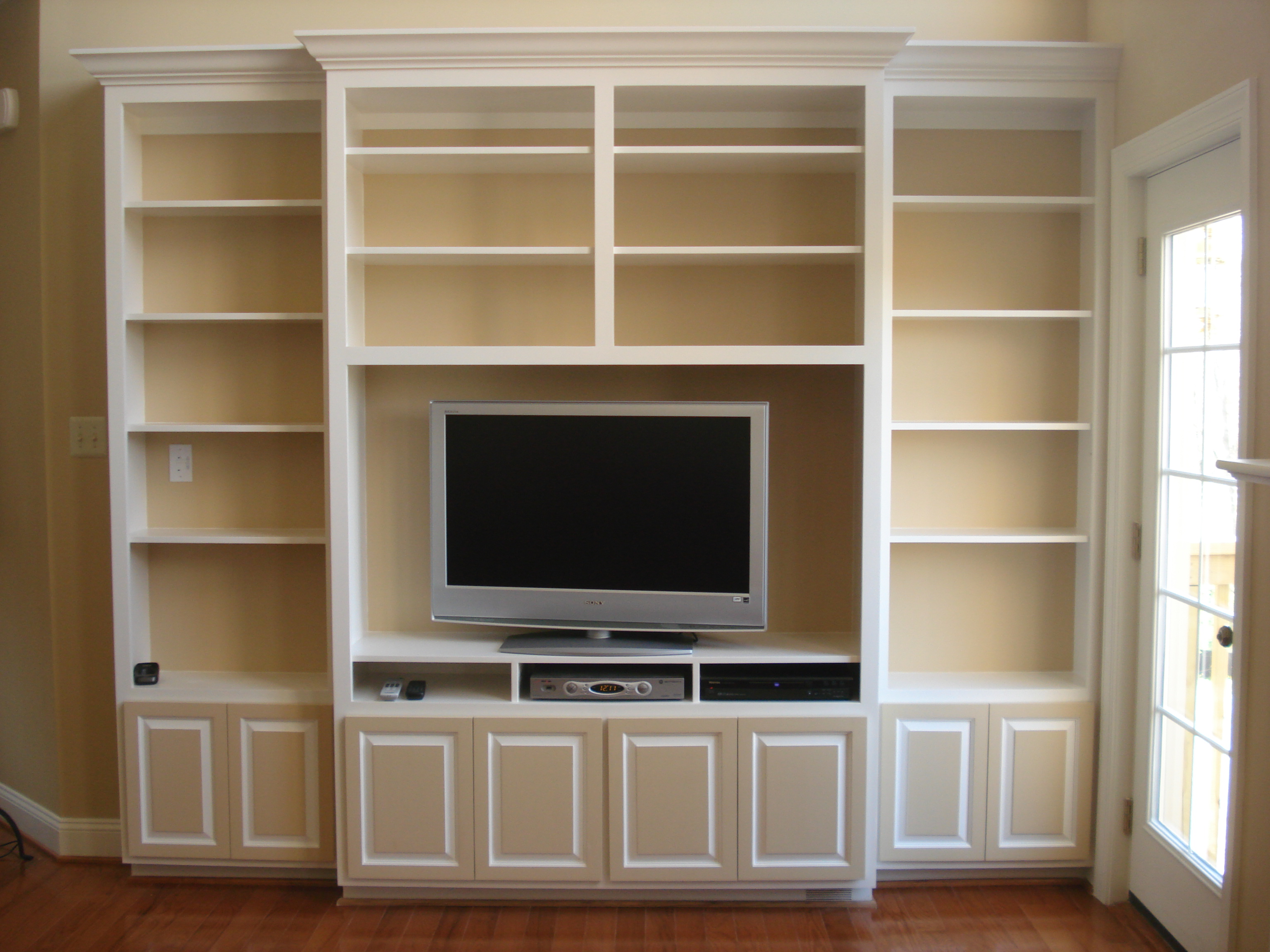 bookcase entertainment center plans