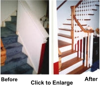 Stairworks specilizes in replacement of worn out wood stairs and railings.