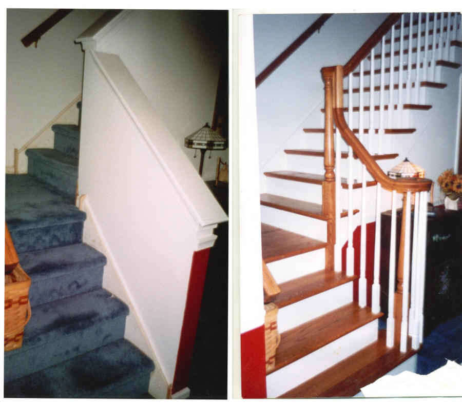 Wood stair products services custom built circular - Renovation peinture interieur ...