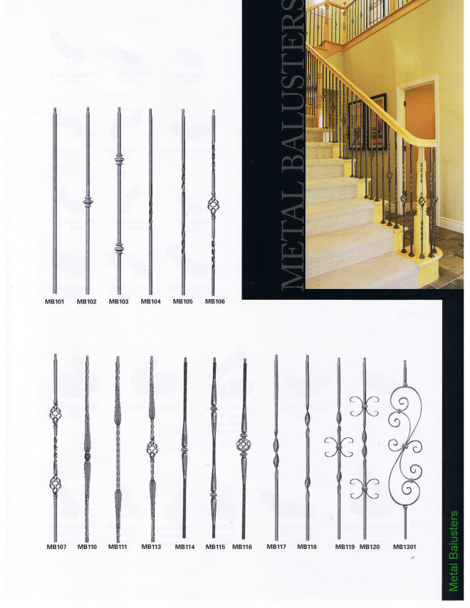 Metal baluster options manufactured by Stairworks, Inc. The area's premier wood staircase manufacturer providing high quality stair products and services to homeowners, remodelers, contractors and builders in Eastern PA and Souther NJ.